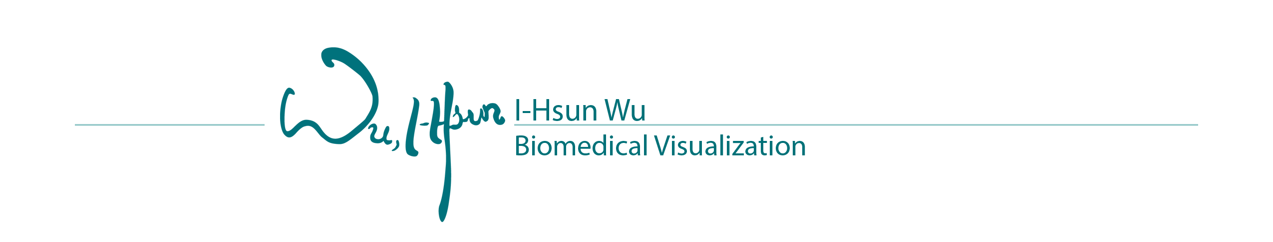 I-Hsun Wu Biomedical Visualization